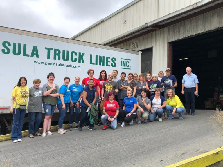 Over 100 volunteers helped collect, sort, count, and package supplies to go to kids in need across WA state
